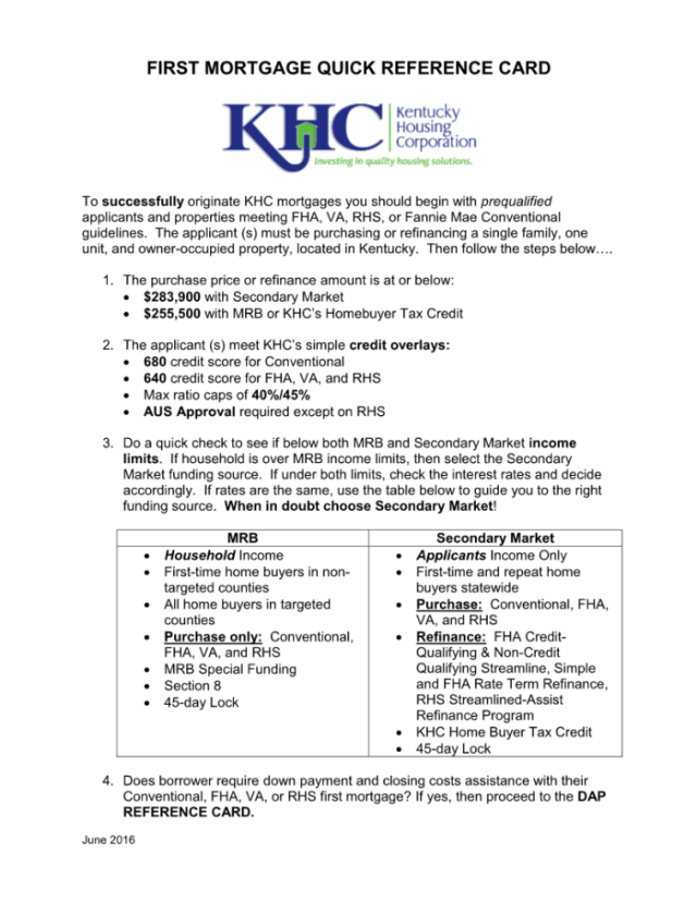 Kentucky Housing Corporation (KHC) | Kentucky First Time