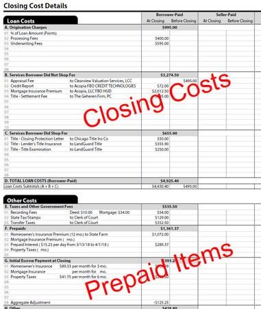 closing costs in Kentucky