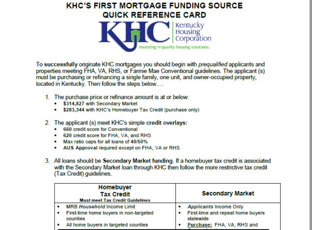 Buying a Kentucky Home No Money Down with KHC Down payment Assistance Program