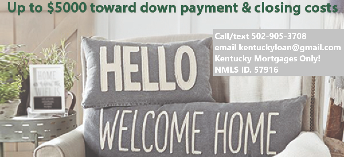 Kentucky First Time Home Buyer Loan Programs for  FHA, VA, KHC and USDA Mortgage Loans in Kentucky